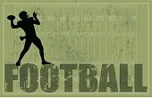 "Grunge themed illustration of American football background. Check out my ""American Football Vector"" light box for more."