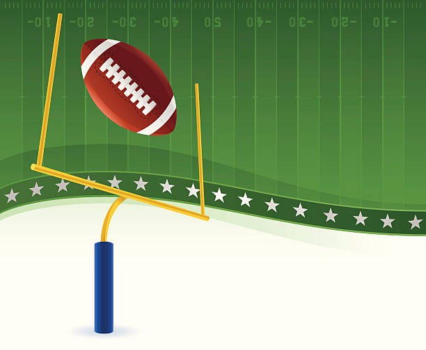 Football Background Football Background with copy space. ncaa college football stock illustrations