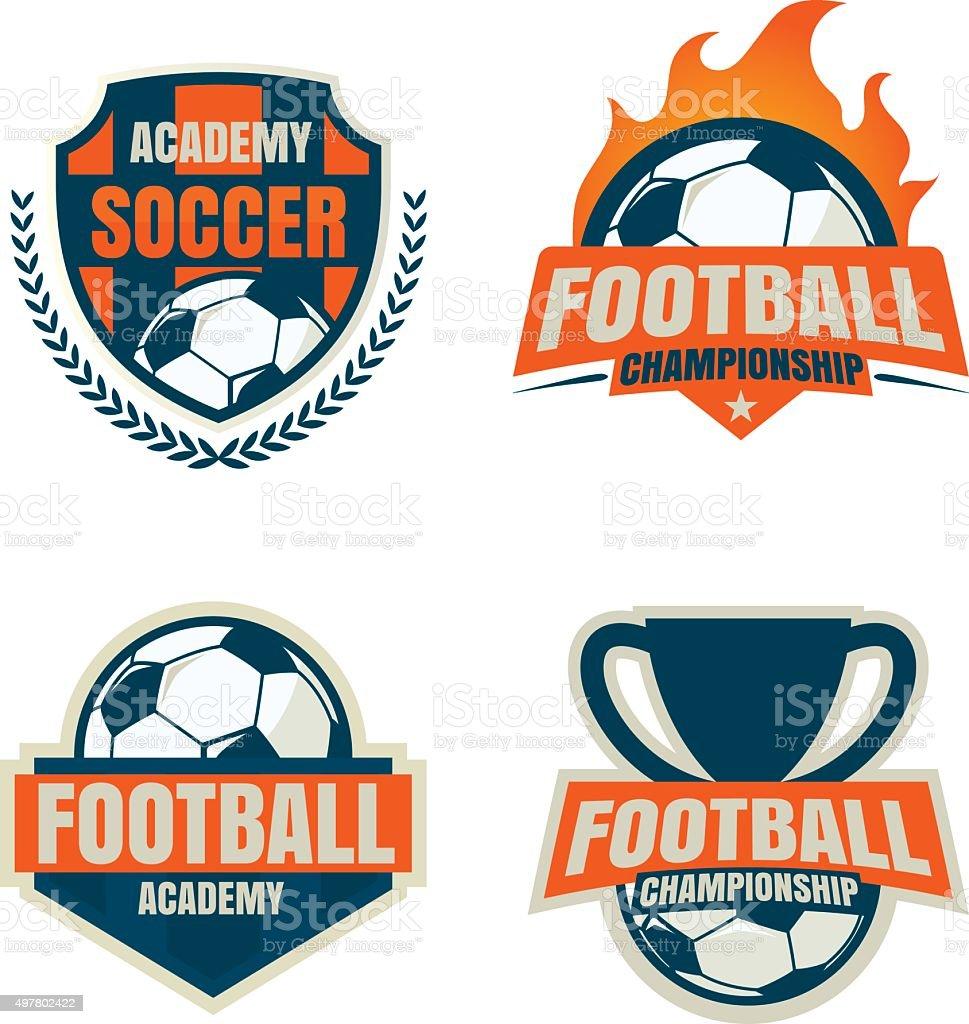 Football badge logo template collection designsoccer teamvecto stock football badge logo template collection designsoccer teamvecto royalty free football badge maxwellsz
