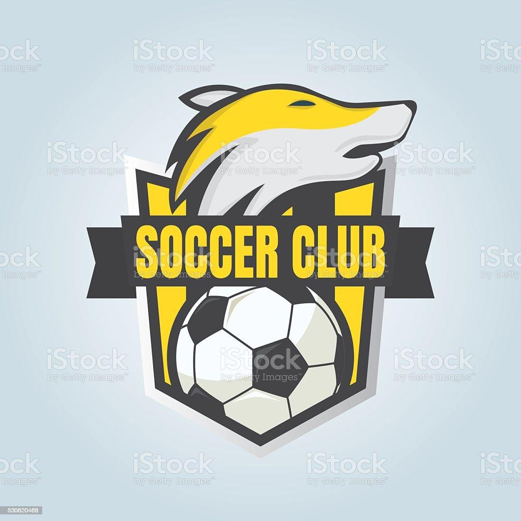 football badge logo template collection designsoccer teamvecto stock