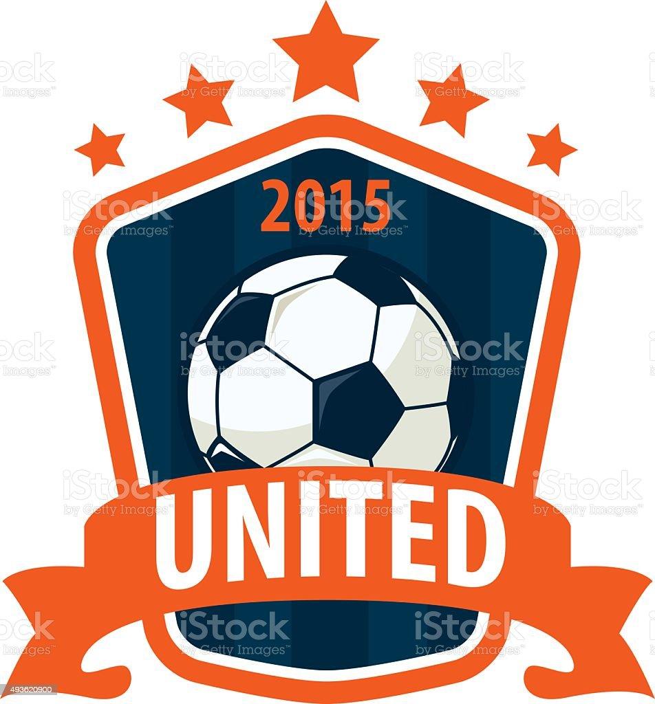 Ilustración de Fútbol De Tarjeta Plantilla De Diseño De Logotipo ... 53c51235a79ed