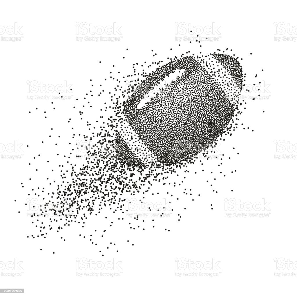 Una pelota de fútbol Resumen silueta divergente de la partícula de ilustración - ilustración de arte vectorial