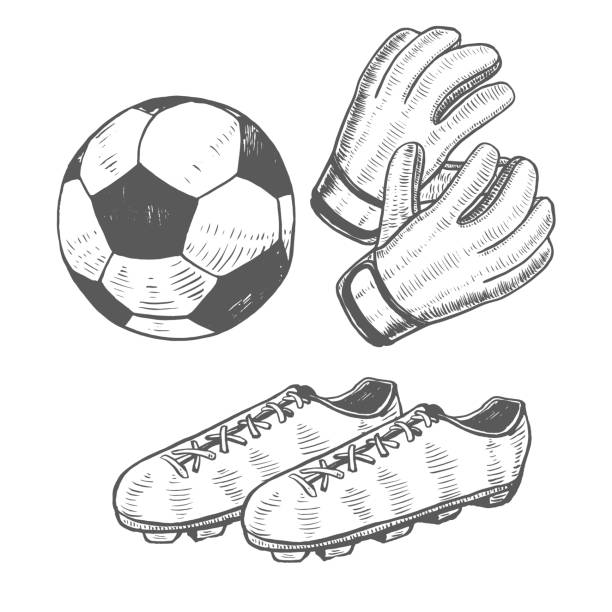Royalty Free Soccer Glove Clip Art, Vector Images