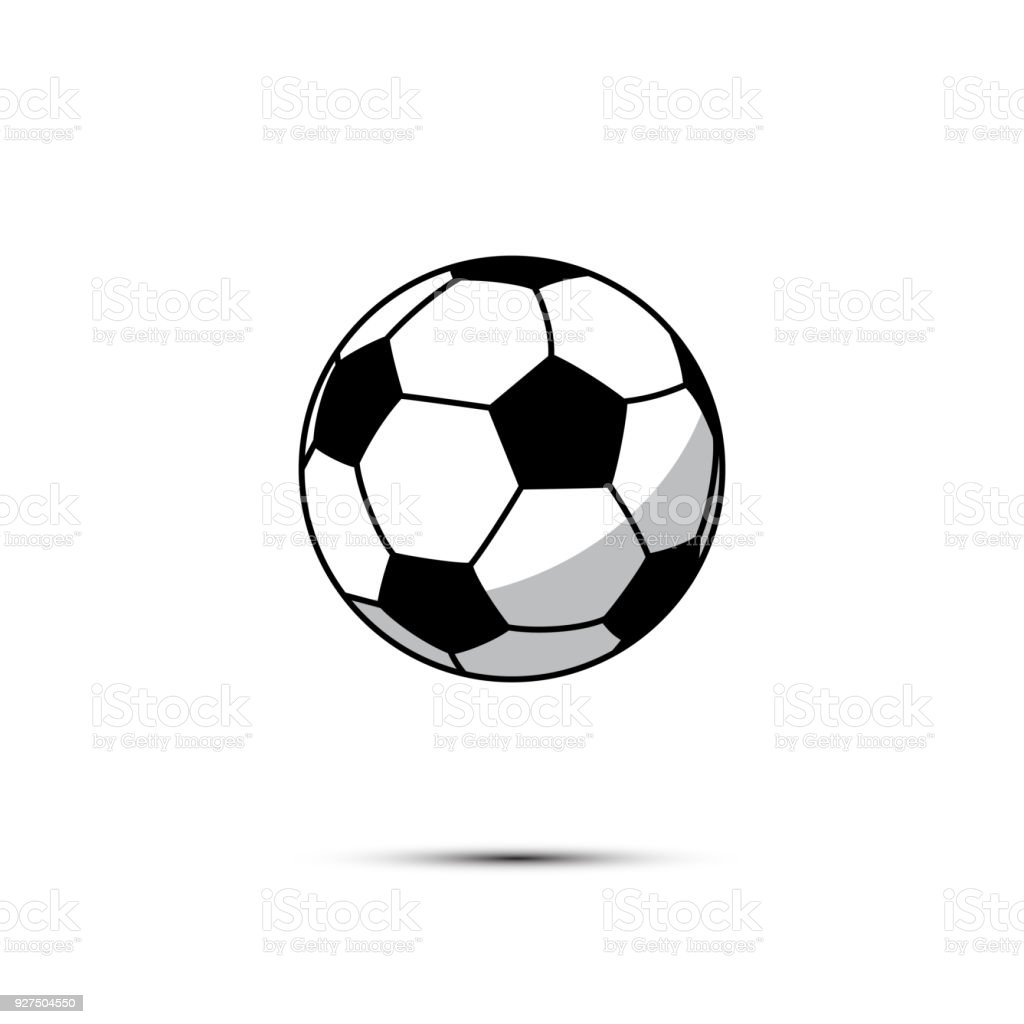 Football Ball Icon Vector Soccer Ball Isolated On White Background