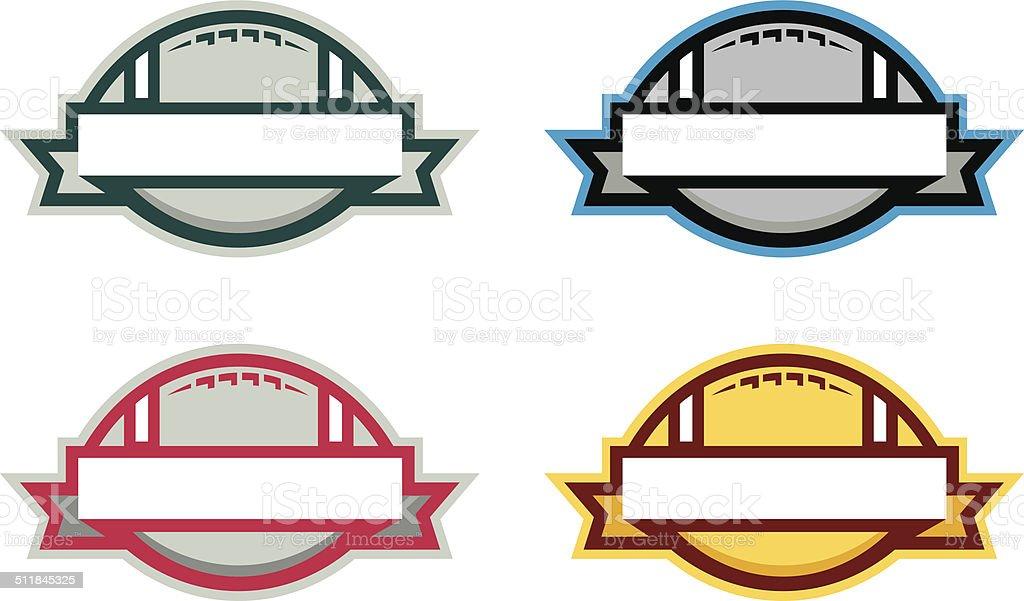 Football Banner Logo royalty-free football banner logo stock vector art & more images of american football - ball