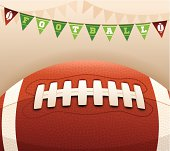 Football banner message with space for copy. EPS 10 file. Transparency effects used on highlight elements.