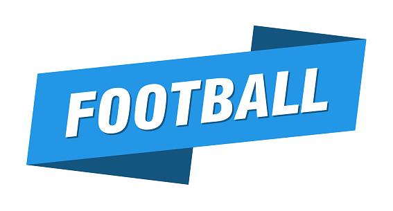 football banner template. football ribbon label sign
