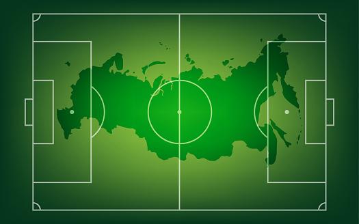Football banner. Vector illustration. Sports 2018 Russia trends, vector illustration