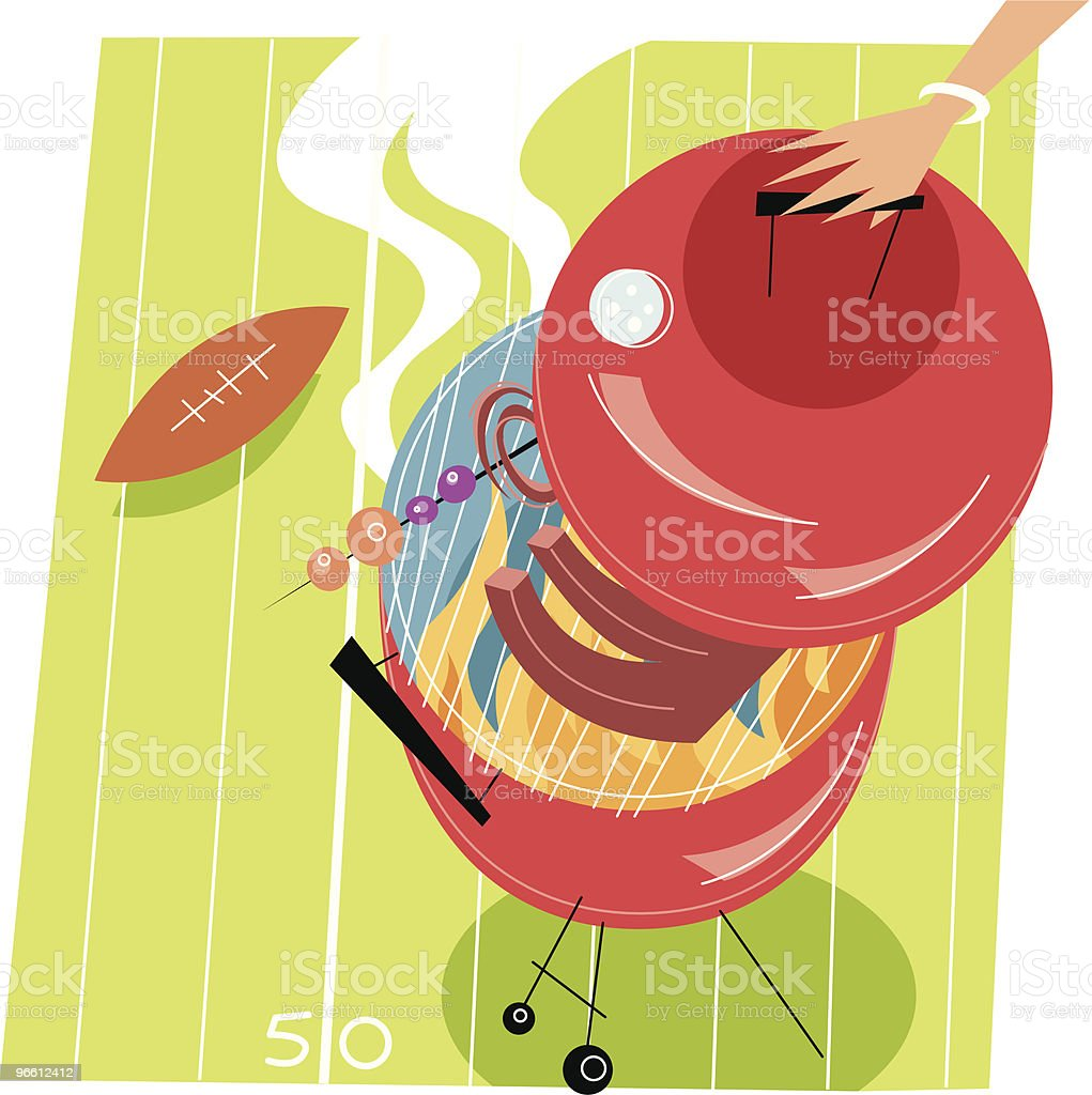 Football-Barbecue - Lizenzfrei Amerikanischer Football Vektorgrafik