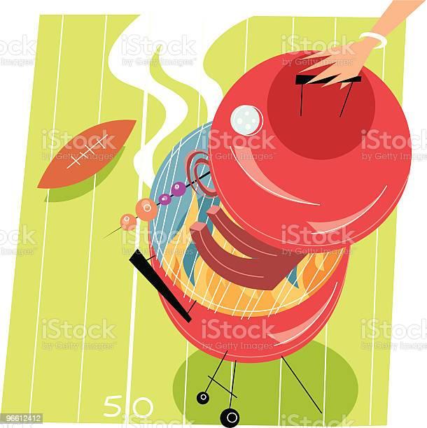 Футбол Барбекю — стоковая векторная графика и другие изображения на тему Американский футбол