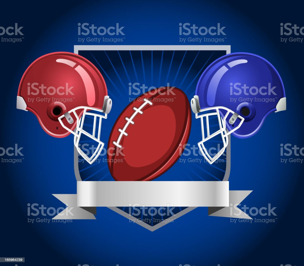 Football blue royalty-free stock vector art