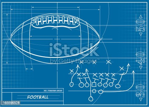 Football blueprint stock vector art more images of american football blueprint stock vector art more images of american football ball 165596528 istock malvernweather Gallery