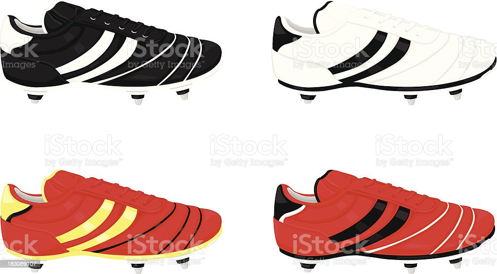 Football Boot Icons vector art illustration