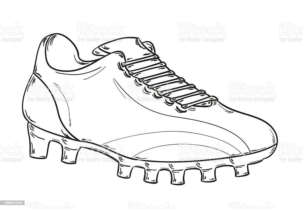 football boots sketch vector art illustration