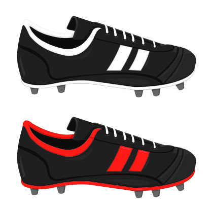 A vector illustration of a pair of football boots.