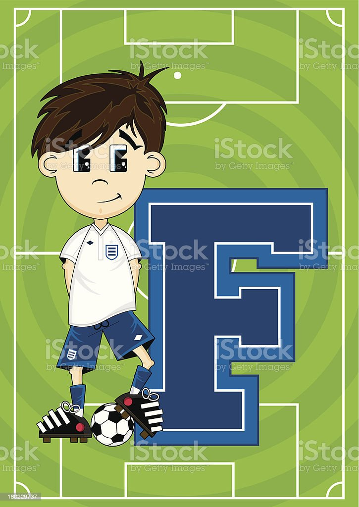 Football Boy Learning Letter F royalty-free football boy learning letter f stock vector art & more images of alphabet