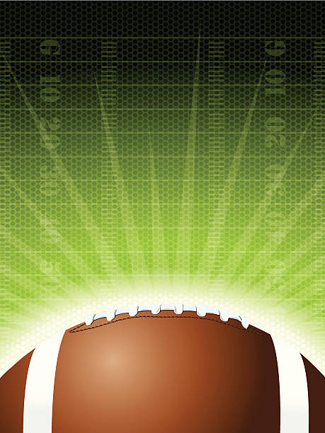 "Football Burst Background Graphic Football Burst Background Graphic. Graphic burst illustration of an American, football and football field. Check out my ""American Football Vector"" light box for more. ncaa college football stock illustrations"