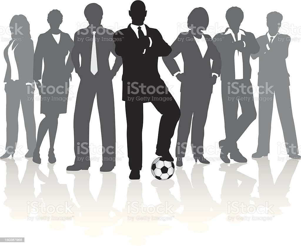 Football business team royalty-free stock vector art