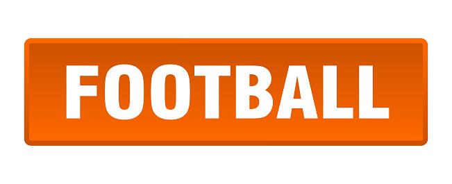 football button. football square orange push button