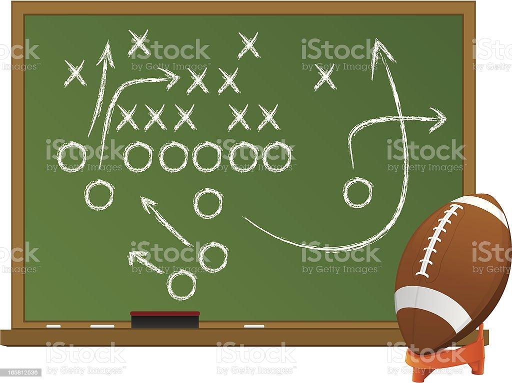 Football Chalk Board vector art illustration