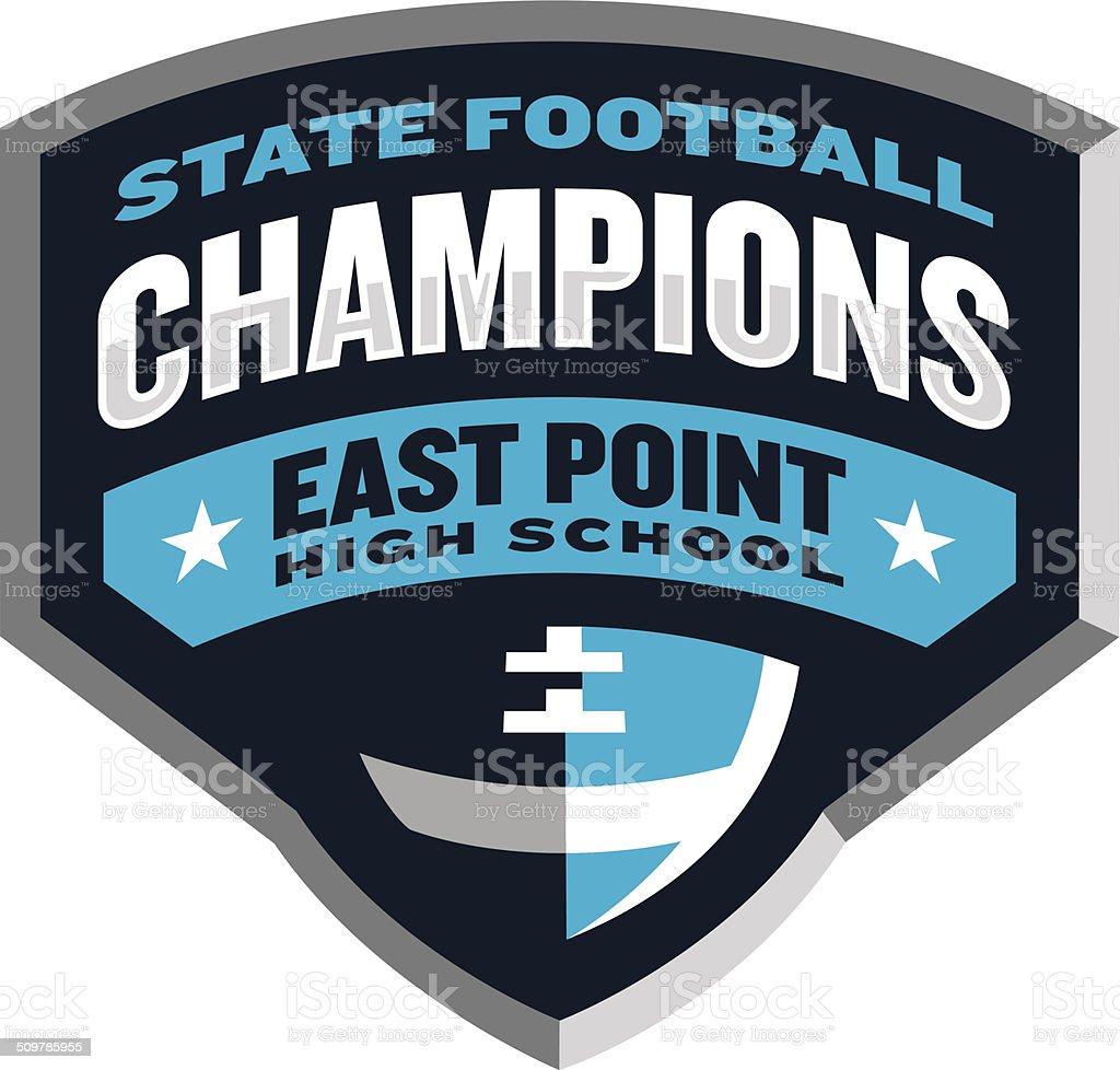 Football Champions Logo royalty-free football champions logo stock vector art & more images of american football - ball