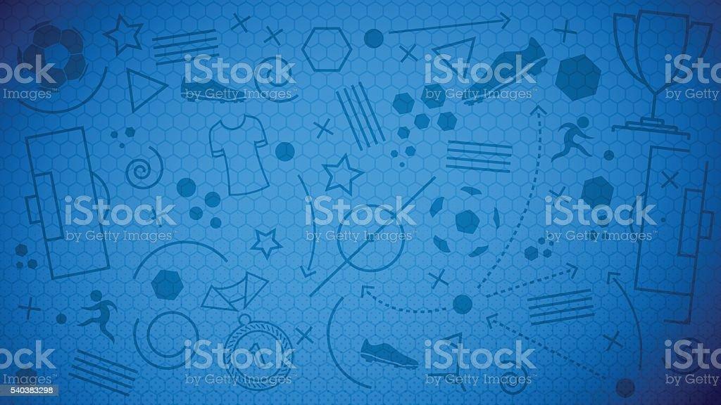 Football championship background vector art illustration