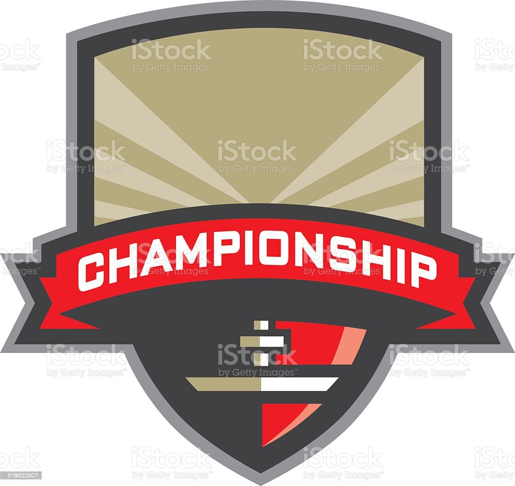 Football Championship Banner Logo royalty-free football championship banner logo stock illustration - download image now