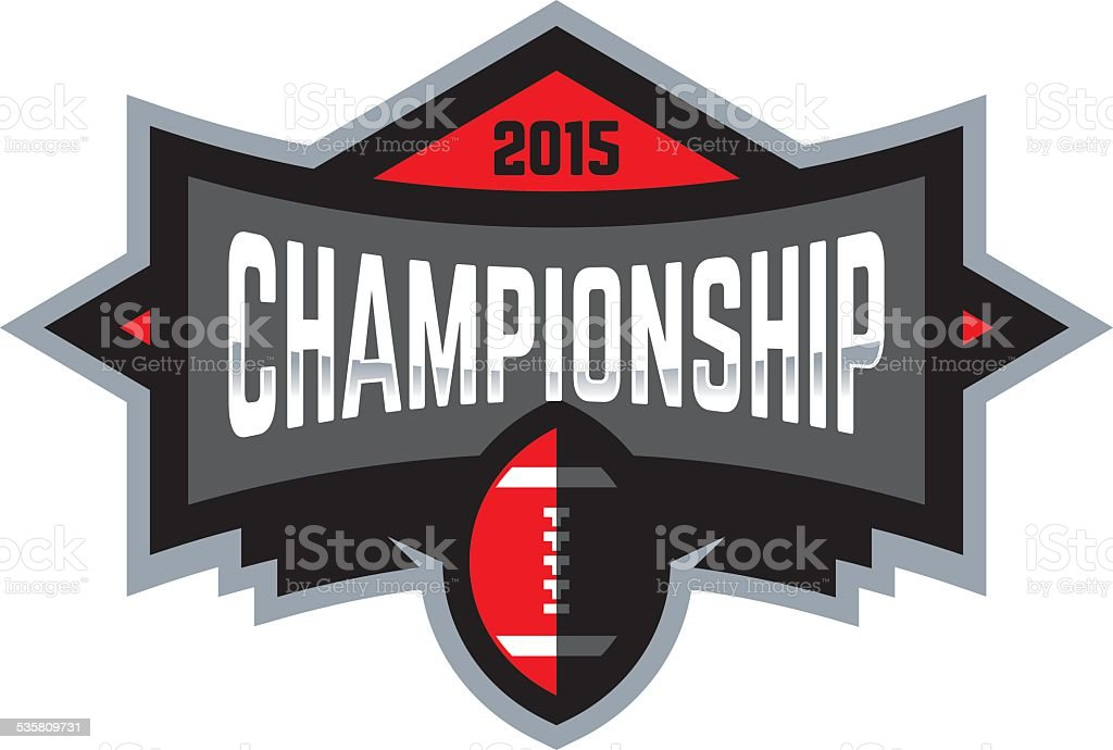 Football Championship Logo royalty-free football championship logo stock illustration - download image now