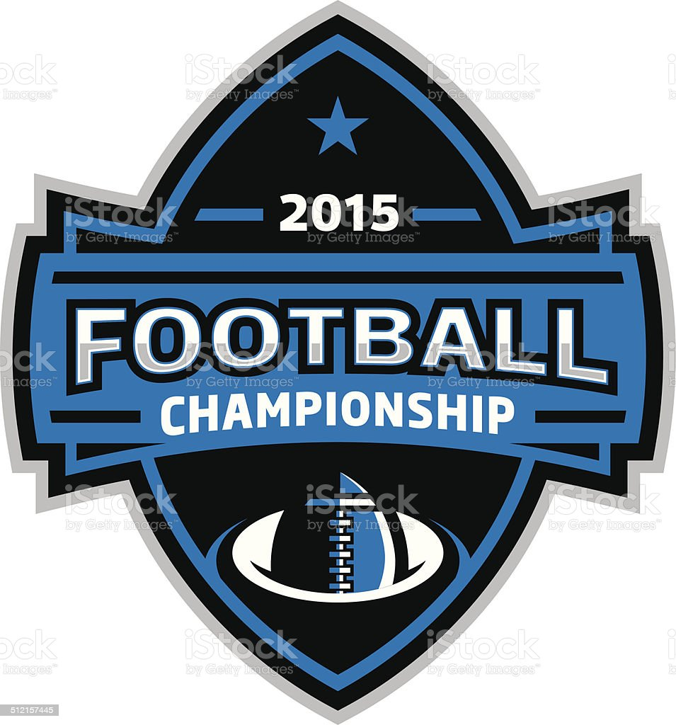 Football Championship Logos vector art illustration