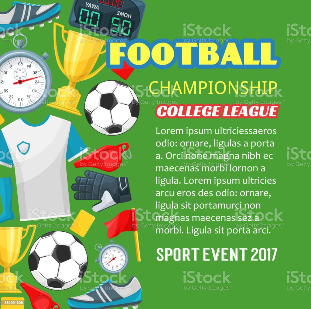 fc13585bf Cartaz de campeonato de futebol do jogo de esporte futebol vetor de cartaz  de campeonato de