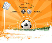 drawn of vector blank soccer background.This file has been used illustrator cs3 EPS10 version feature of multiply.