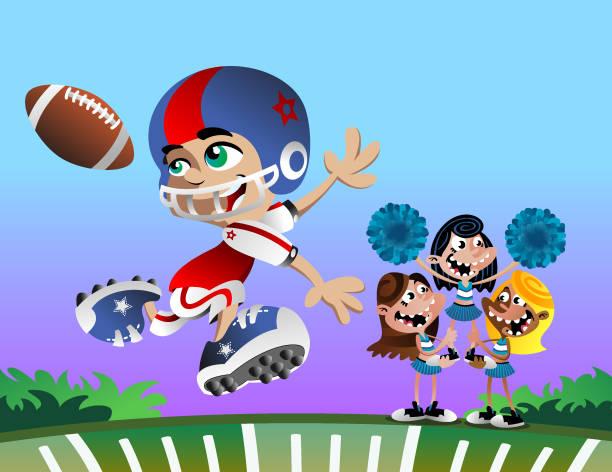 Football Cheer vector art illustration