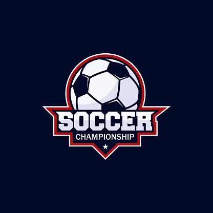 Football club bagde, soccer championship , Football tournament. Vector icon template