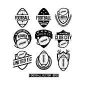 Football Club Set Logo Vector Template Design Illustration
