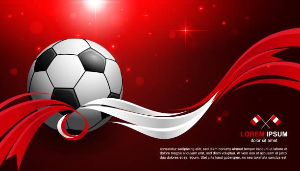 ilustrações, clipart, desenhos animados e ícones de campeonato de futebol de copa com brilho luz fundo futebol de bandeira do peru - bandeira do peru