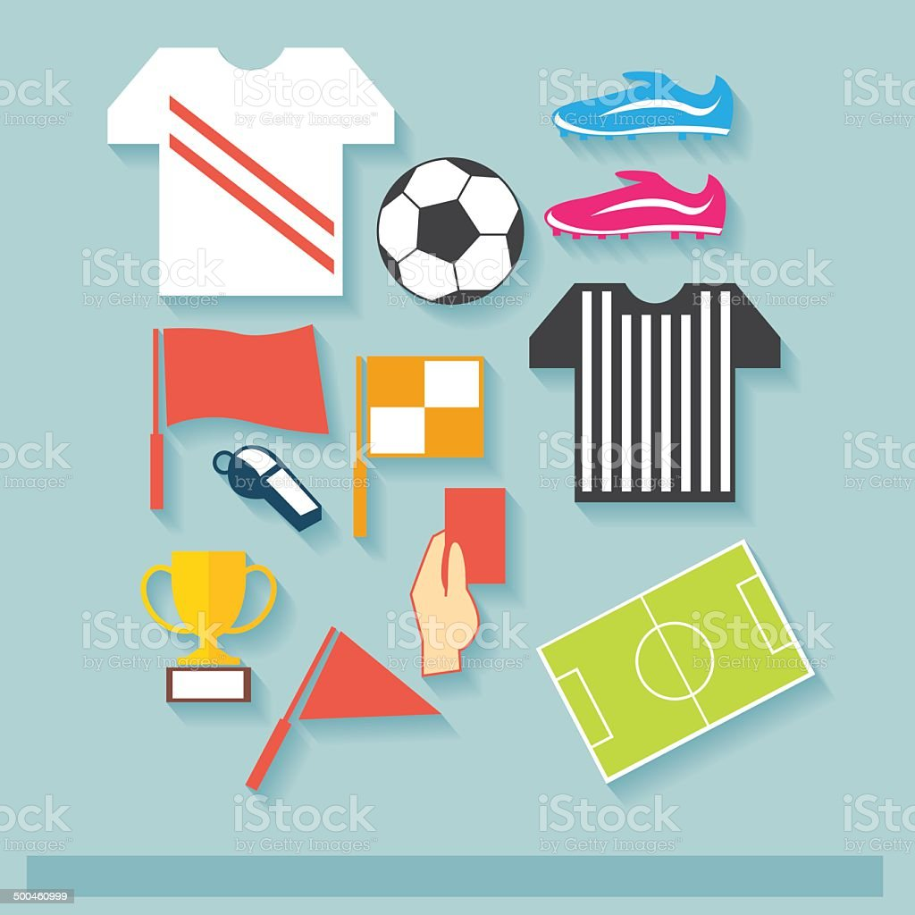 Football Cup Icon Concept vector art illustration
