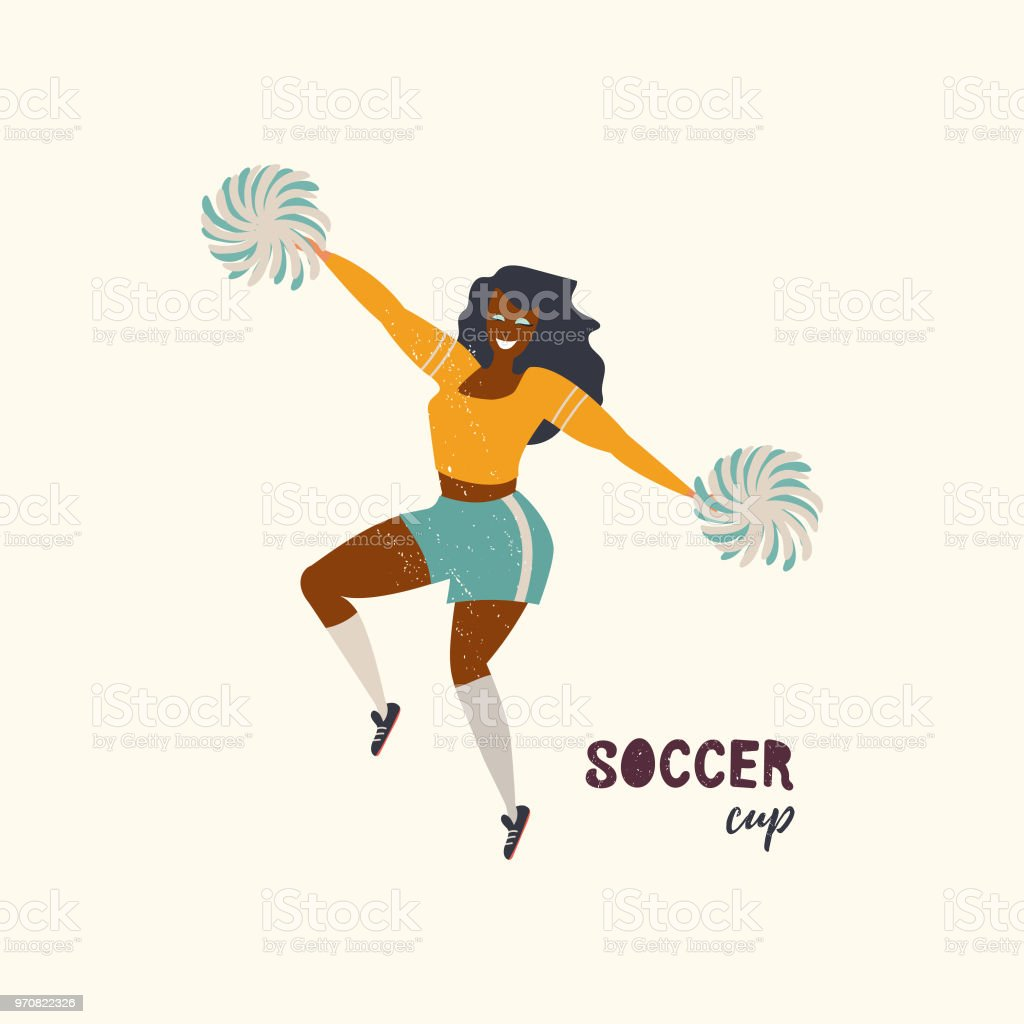 football cup vector art illustration