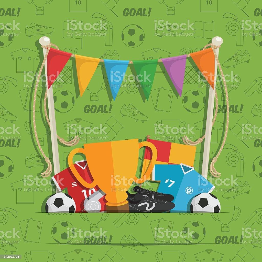 Decoración de fondo de fútbol - ilustración de arte vectorial