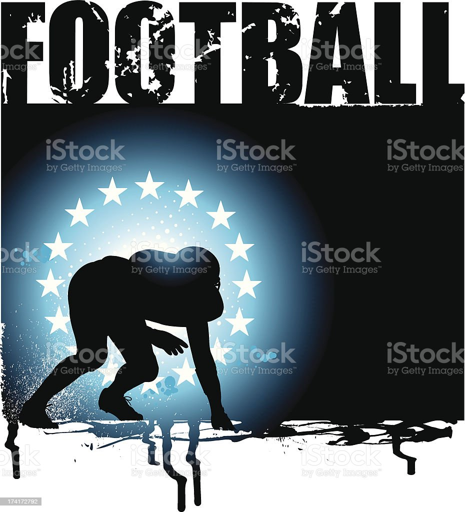 Football Defense Grunge Graphic Background royalty-free football defense grunge graphic background stock vector art & more images of all star