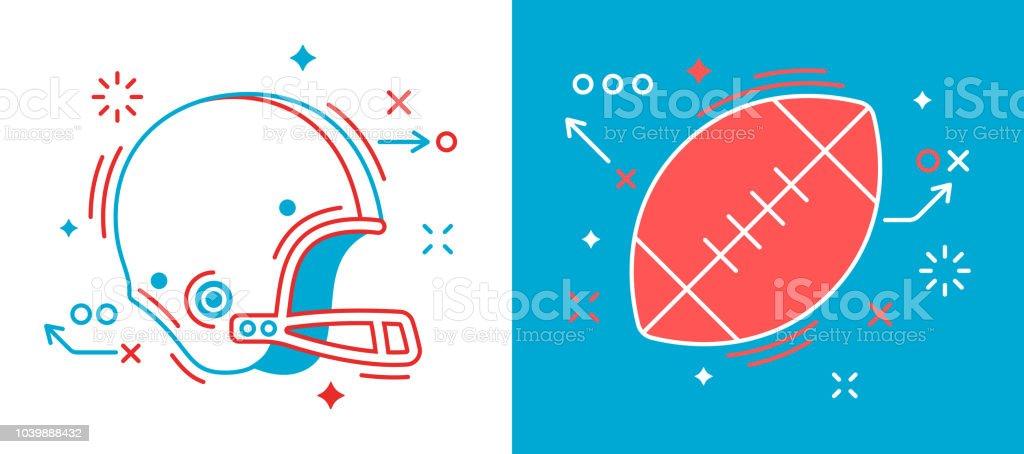 Elementos de diseño de fútbol - ilustración de arte vectorial