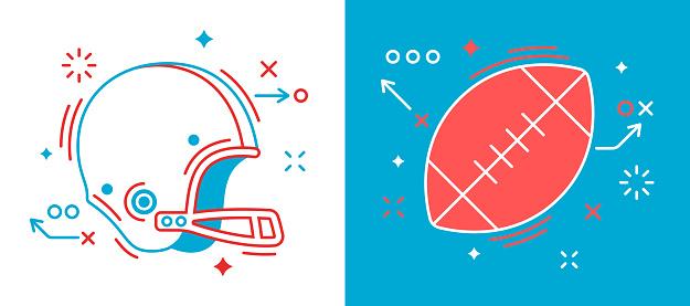 Vetores de Elementos De Design De Futebol e mais imagens de Arte Linear