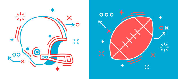 football design elements - football stock illustrations, clip art, cartoons, & icons