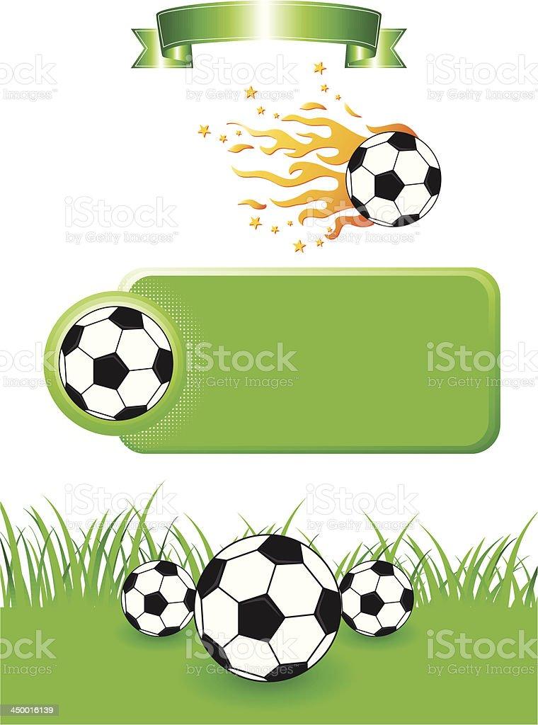 Football Design Elements royalty-free stock vector art