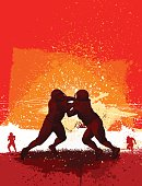 American football themed composition, american football player - vector illustration
