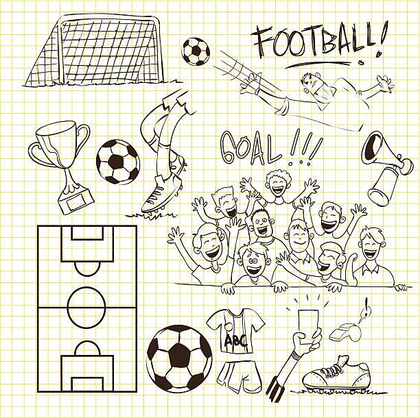football doodle - 進球 幅插畫檔、美工圖案、卡通及圖標