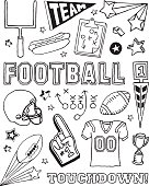 A football-themed doodle page.
