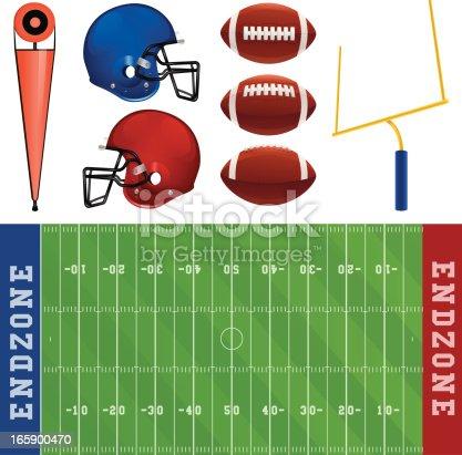 American football elements.
