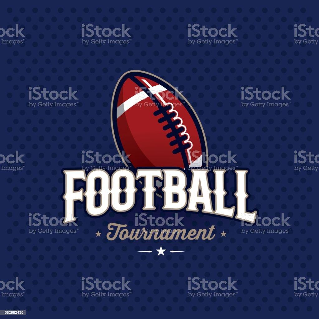 Emblema de fútbol azul - ilustración de arte vectorial