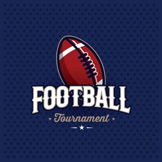 サッカー エンブレム ブルー - アメリカンフットボール点のイラスト素材/クリップアート素材/マンガ素材/アイコン素材