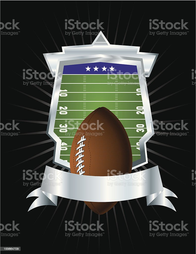 Football Emblem royalty-free stock vector art